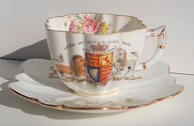 Antique Foley Queen Victoria 60 Year Reign Cup and Saucer  Lovely Old Item