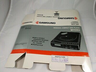 Box Only - Samsung MYCD2 Personal Compact Disc Player -Box Only