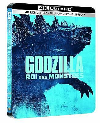 Godzilla: King of the Monsters (4K UHD + 3D + 2D Blu-ray Steelbook) NEW - PRE-OR