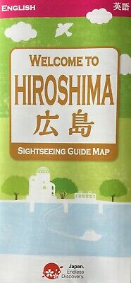 HIROSHIMA City Centre Map - Peace Memorial Park Area - Free UK Postage