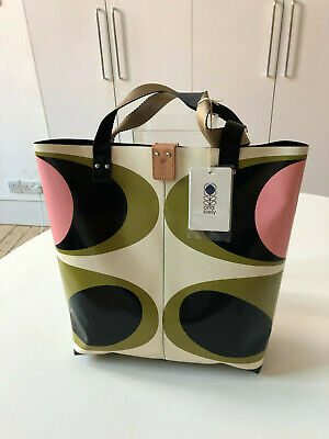 Orla Kiely Flower Oval Printed Tarpaulin Tote. Brand New With Tags. Rare.