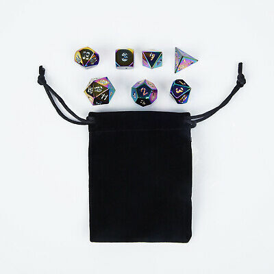 7Pcs/set Metal Polyhedral Dice For DND RPG MTG Role Playing Game Zinc Alloy