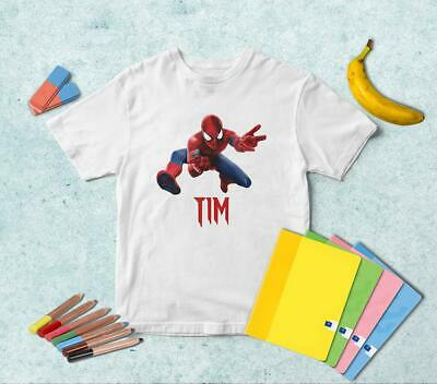 Spider Man Attack PERSONALIZED T-shirt | Any Color | Boys Girls Kids TS043