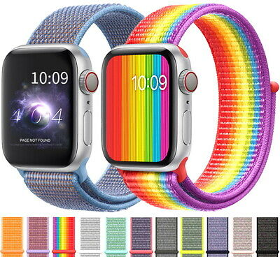 Band For Apple Watch Series 4/3/2/1 38MM 42MM Nylon Soft Breathable Replacement