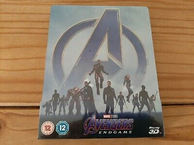 Avengers - Endgame 3D Blu-Ray Steelbook Uk Edition Region Free New And Sealed