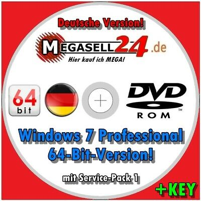 ☝ Windows 7 Professional PRO DVD + Product KEY + Anleitung Vollversion x64 MS CD