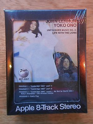 John Lennon Yoko Ono Life With The Lions Apple 8-Track Cartridge Sealed Vintage