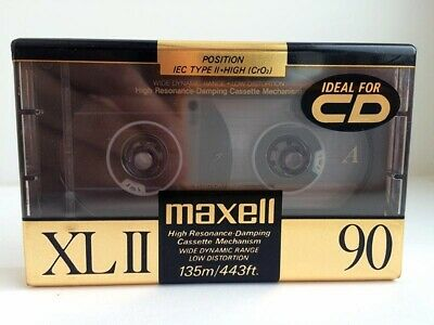 Maxell Xl Ii 90 Blank Audio Cassette Tape New Rare 1991 Year Japan Made