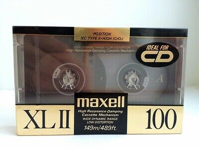 Maxell Xl Ii 100 Blank Audio Cassette Tape New Rare 1989 Year Japan Made