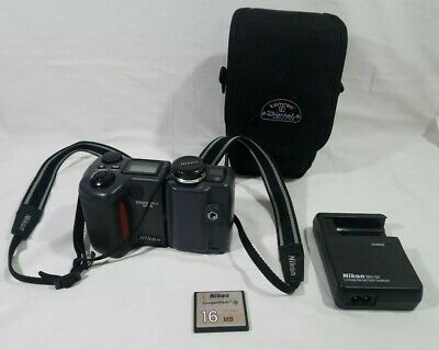 NIKON Coolpix E995 Digital Camera With Charger & 1 Battery 16mb Flash & Case GC