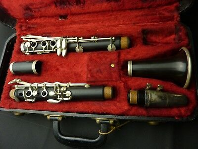 Vintage Couesnon & Cie A Paris wooden Made in France Boehm Bb clarinet