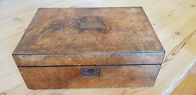 Vintage Brass hinged Wooden Writing Slope