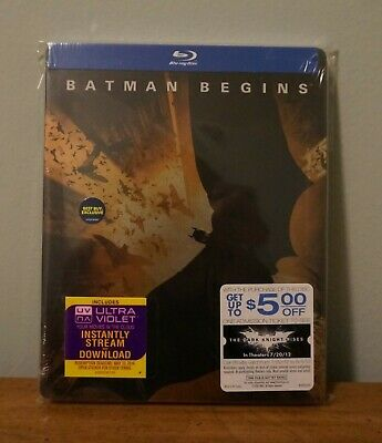 New! Batman Begins Limited Edition Collectible Steelbook Blu-ray SEALED