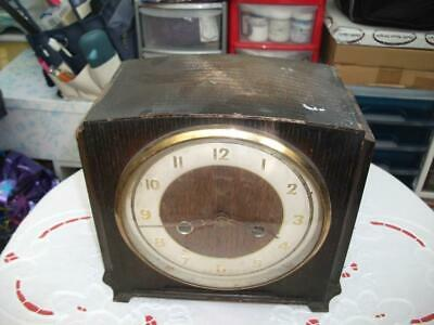 "Smiths ""Hadleigh"" 8 Day Striking Mantel Clock. 1955. In Need Of Refurbishment."