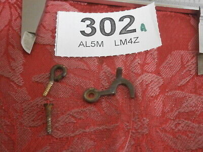 HOOK & EYE Clock Case Fixings cabinet Vintage parts spares 302A