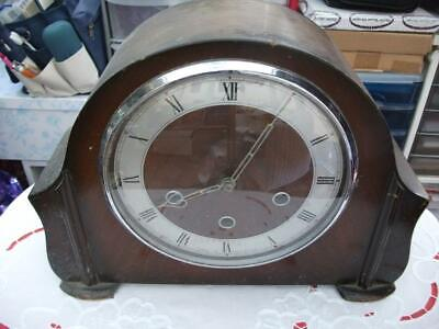 "Smiths ""Lancaster"" Westminster Chiming Mantel Clock. In Need Of Refurbishment,"