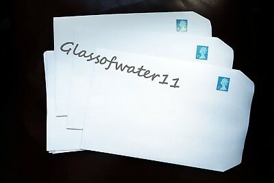 50 - Pre-Stamped Self-Seal C5 Envelopes With 2Nd Class Stamps Attached
