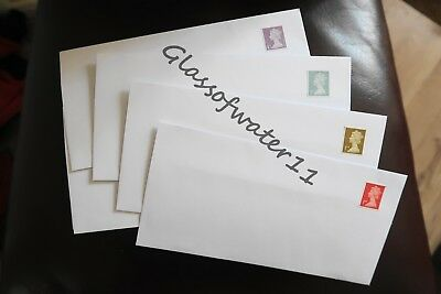 100 - Pre-Stamped Self-Seal - Dl - Envelopes With First Class Stamps Attached