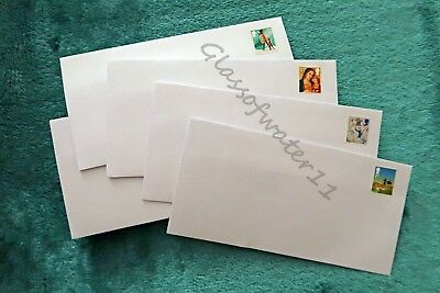 50 - Pre-Stamped Self-Seal Envelopes - Dl - With Second Class Stamps Attached.