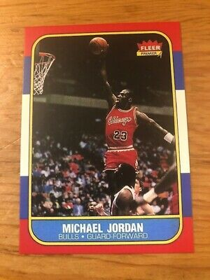 1986-87 Fleer MICHAEL JORDAN #57 Chicago Bulls Reprint Rookie Card RC HOF MINT
