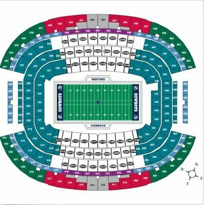 2 Tickets Dallas Cowboys vs. New York Giants (section 119, row 18, 9-10)