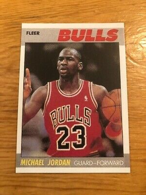 1987-88 Fleer MICHAEL JORDAN #59 Chicago Bulls Reprint Card HOF MINT