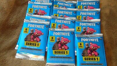 FORTNITE PANINI SERIES1 (2019 TRADING CARDS) 6 cards per pack (You get 12 packs)