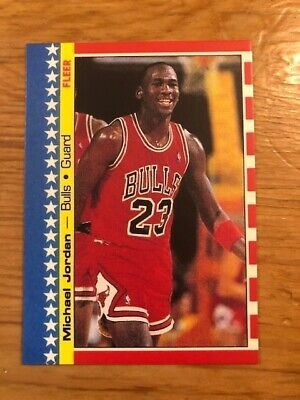 1987-88 Fleer Sticker MICHAEL JORDAN #2 Chicago Bulls Reprint Card HOF MINT