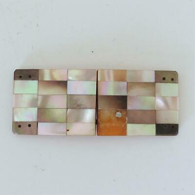 Art Deco Mother-Of-Pearl And Abalone Shell Belt Buckle