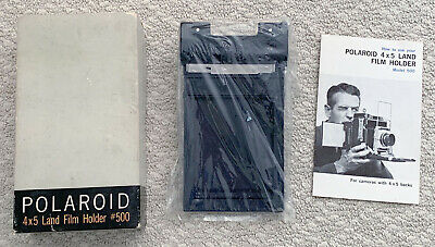 Vintage Polaroid 4x5 #500 Land Film Holder film back in box with instructions