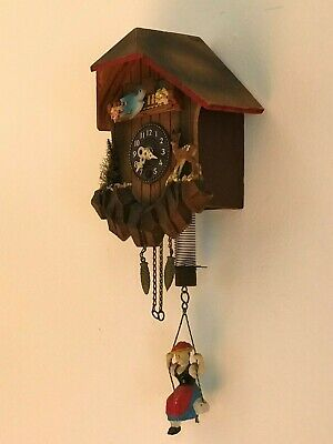 Miniature Cuckoo Clock;   Black Forest, One Day
