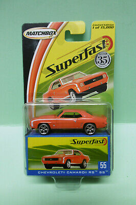 Matchbox Superfast - 1969 CHEVROLET CAMARO RS SS - Limited Edition 1/64