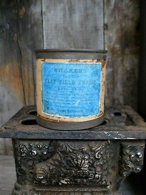 Primitive Antique Wood and Tin Pantry Box circa 1860 White Milk Pt Free Shipping