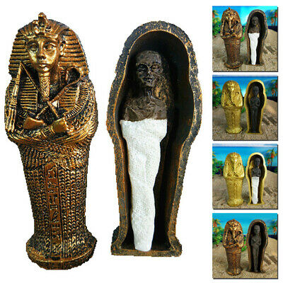 Egyptian Pharaoh Coffin Mummy Model Miniature Figurine Statue Collectible Gift