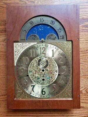 Baldwin Howard Miller Grandfather Clock Triple Chime Dial Face With Wood Panel