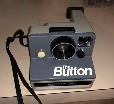 "Great Polaroid ""The Button"" Land Camera SX-70 Instant Camera (Gray) Vintage"