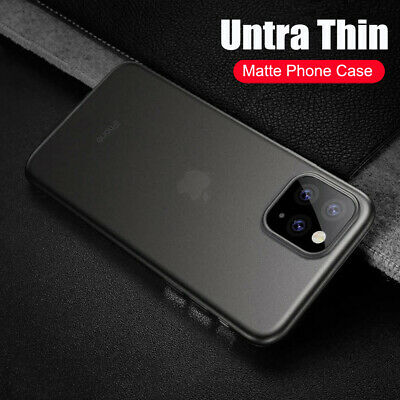 For iPhone 11 Pro Max Ultra Thin Slim Transparent Matte Hard Back Case Cover