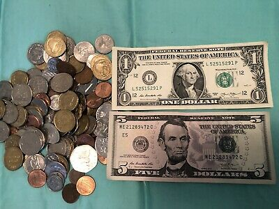 Mixed Lot of Foreign Notes + Coins