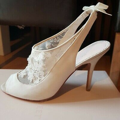 Melissa Sweet Wedding Bridal Heels Shoes Floral Slingback UK 8.5
