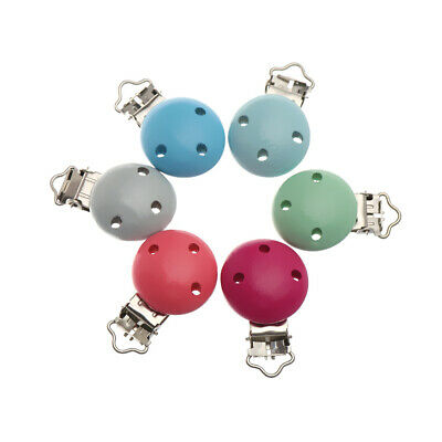 Teething Gifts Newborn Baby Pacifier Clip Teether Holder Nipple Holder Wooden