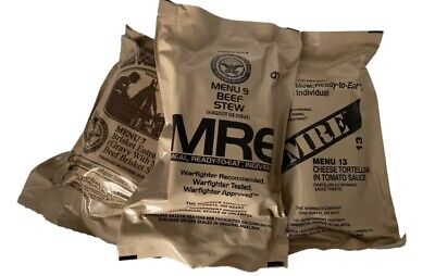 8X Random Draw MRE US MILITARY Case A/B MEALS READY TO EAT
