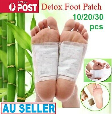 10-30 PCS Natural plant Detox Foot Patch Pad Herbal Toxin Removal Weight Loss Au