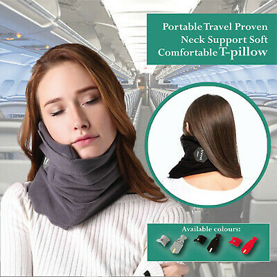 T-Pillow Portable Soft Comfortable Travel Proven Neck Support Sitting Nap Pillow
