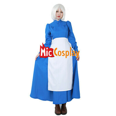 Howl/'s Moving Castle Sophie Hatter Maid Dress Halloween Clothing Cosplay Costume