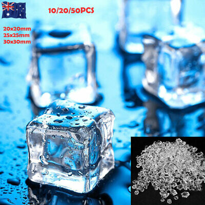 10/20/50PCS Acrylic Ice Cubes Fake Ice Cubes Bar Home Display Photography Props
