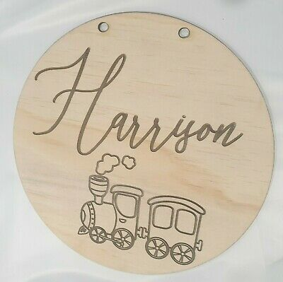 Personalised Kids Letters Wall Hanging Wooden Name Sign Nursery Baby