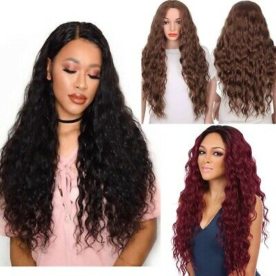 Fashion Girl Long Synthetic Curly Hair Women Wavy Cosplay Costume Wig+Free Cap