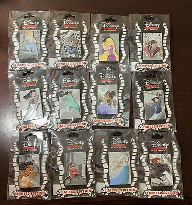 D23 2019 Disney Studio Store Hollywood Heroines Fight Back Pin Set Of 12 Le 300!