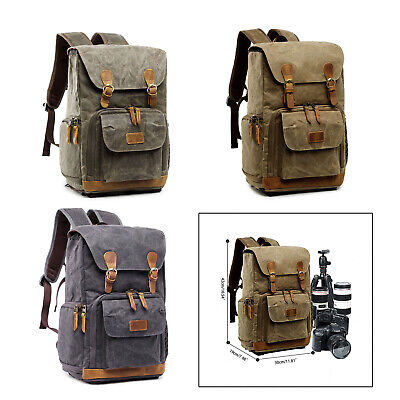 Large Camera Backpack Shoulder Bag for Canon Nikon Sony DSLR Lens 15''Laptop