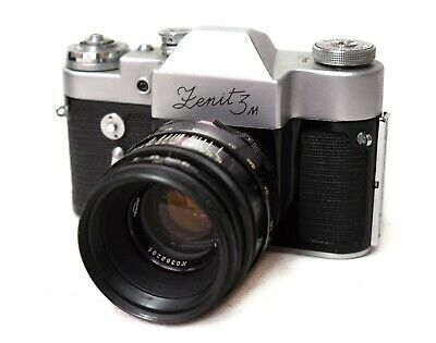 Vintage Zenit 3M Camera with Original Case and Lens HELIOS-44 2/58 -Made in USSR